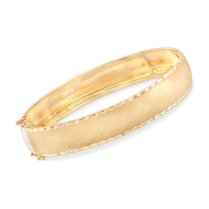 "Italian 14kt Yellow Gold Bangle. 7"""