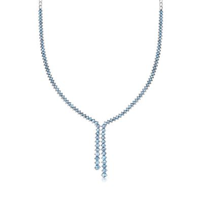 11.00 ct. t.w. Blue Topaz Y-Necklace in Sterling Silver, , default