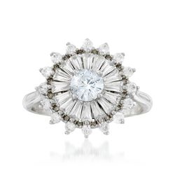 1.70 ct. t.w. CZ Starburst Ring in Sterling Silver, , default
