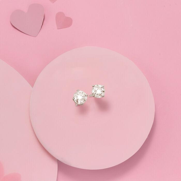 1.20 ct. t.w. Diamond Stud Earrings in 14kt White Gold