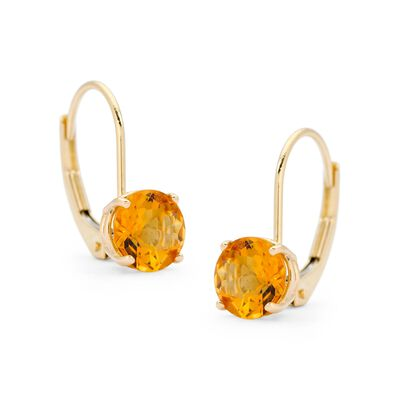 1.50 ct. t.w. Citrine Earrings in 14kt Yellow Gold , , default