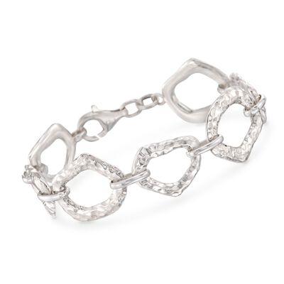 """Zina Sterling Silver """"Touchstone"""" Link Bracelet"""