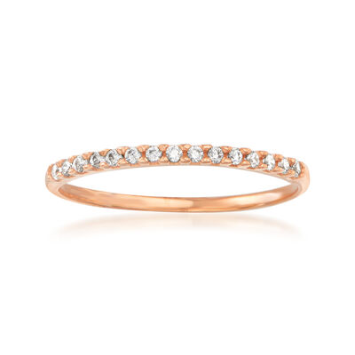 Italian .10 ct. t.w. CZ Ring in 14kt Rose Gold