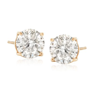2.00 ct. t.w. Diamond Stud Earrings in 14kt Yellow Gold
