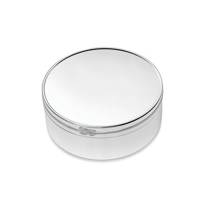 "Vera Wang for Wedgwood ""Infinity"" Round Keepsake Box, , default"