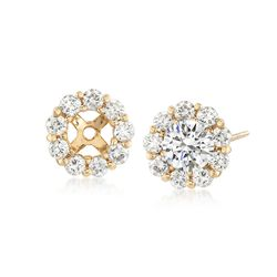 1.00 ct. t.w. Diamond Earring Jackets in 14kt Yellow Gold, , default