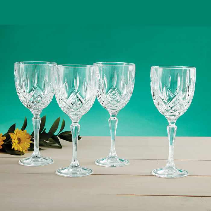 """Waterford Crystal """"Markham"""" Set of Four Marquis Goblets"""