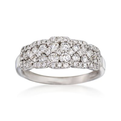 1.00 ct. t.w. Diamond Fancy Ring in 18kt White Gold