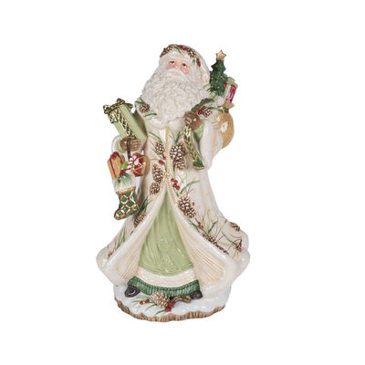 "Fitz and Floyd ""Forest Frost"" Santa Figurine, , default"