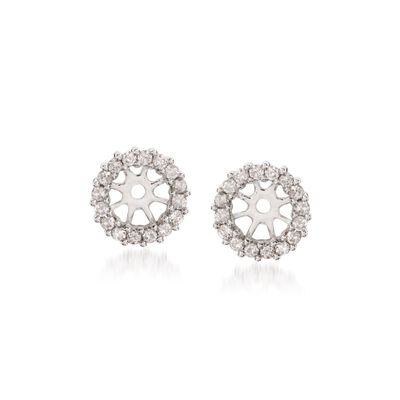 .30 ct. t.w. Diamond Earring Jackets in 14kt White Gold, , default