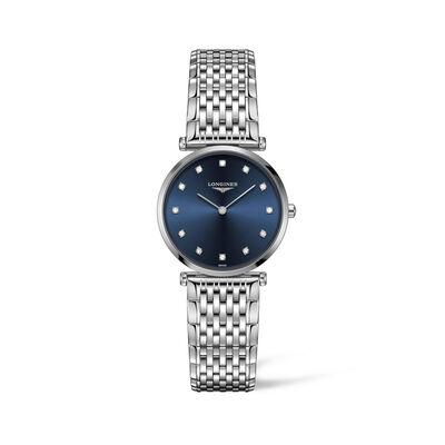 Longines La Grande Classique Women's 29mm Stainless Steel Watch with Diamond Markers