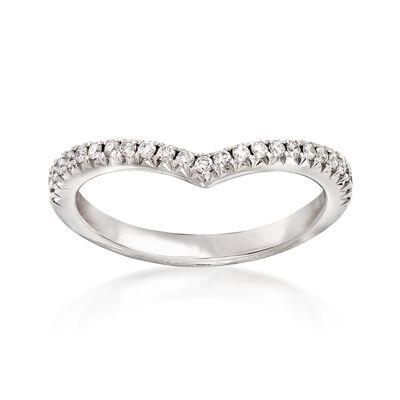 Henri Daussi .18 ct. t.w. Diamond Wedding Ring in 14kt White Gold, , default