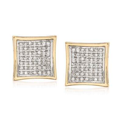 .25 ct. t.w. Pave Diamond Square Earrings, , default