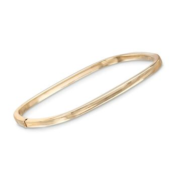 "Roberto Coin 18kt Yellow Gold Square Bangle Bracelet. 7"", , default"