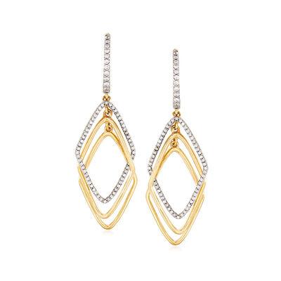 .50 ct. t.w. Diamond Triple-Marquise Drop Earrings in 14kt Yellow Gold