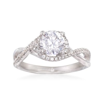 Gabriel Designs .24 ct. t.w. Diamond Engagement Ring Setting in 14kt White Gold