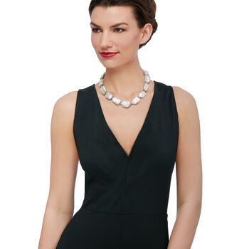 17-20mm Cultured Pearl Necklace in Sterling Silver