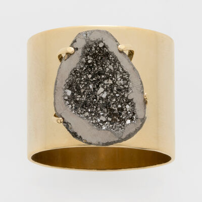 Joanna Buchanan Set of 2 Gold Druzy Napkin Rings, , default