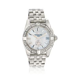 Breitling Galactic 36 Women's 36mm Automatic Stainless Steel Watch With Diamonds - Mother-Of-Pearl Dial, , default