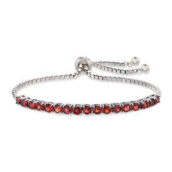 5.00 ct. t.w. Garnet Bolo Bracelet in Sterling Silver, , default