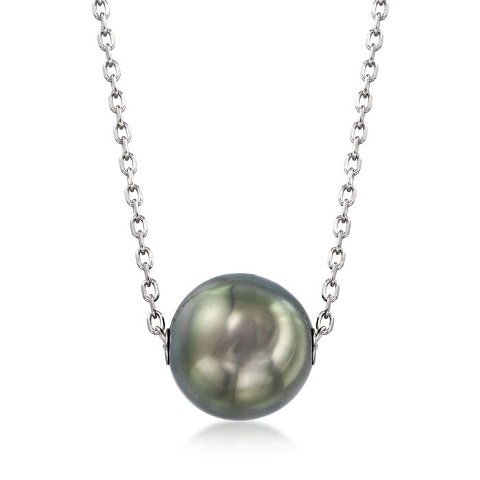 Mikimoto 10mm A+ Black South Sea Pearl Necklace in 18kt White Gold