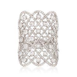 1.15 ct. t.w. Diamond Lattice Ring in 18kt White Gold, , default
