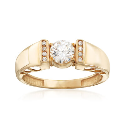 .58 ct. t.w. CZ Ring in 14kt Yellow Gold, , default