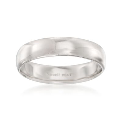 Men's 5mm Platinum Wedding Ring, , default