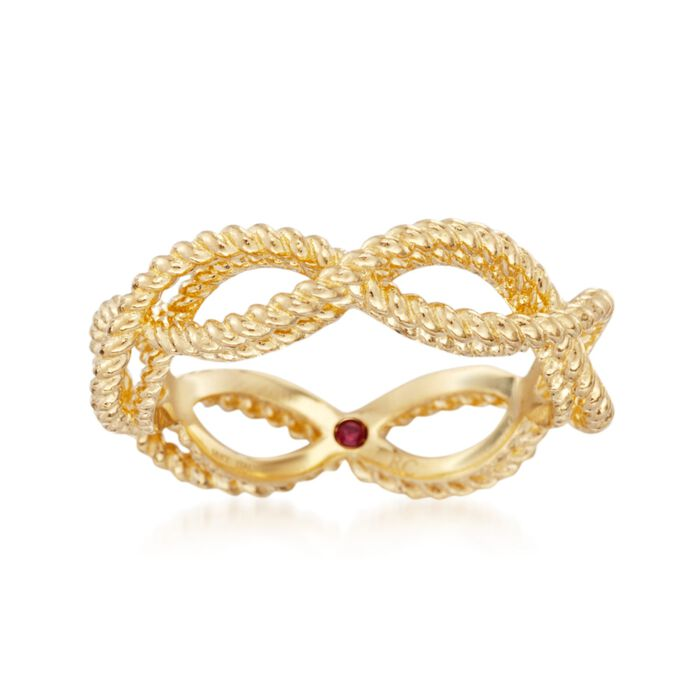 """Roberto Coin """"Barocco"""" 18kt Yellow Gold Braided Ring. Size 6.5, , default"""