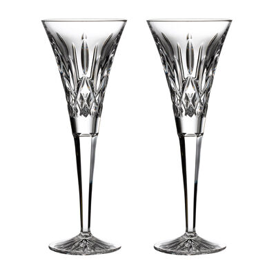"Waterford Crystal ""Gift Bar"" Set of Two Lismore Flute Glasses, , default"