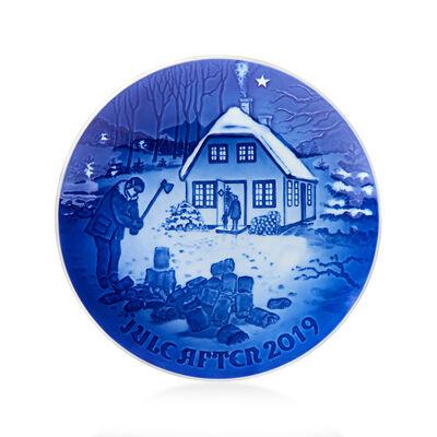 Bing & Grondahl 2019 Annual Porcelain Christmas Plate - 125th Edition, , default