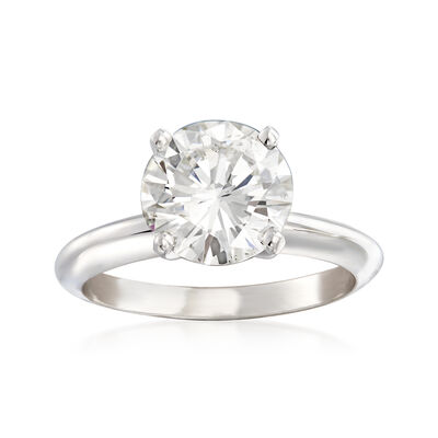 2.51 Carat Certified Diamond Solitaire Engagement Ring in Platinum, , default