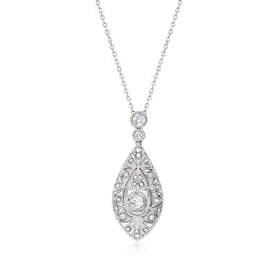 .50 ct. t.w. Diamond Marquise-Shaped Pendant Necklace in 14kt White Gold