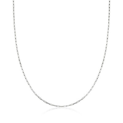 14kt White Gold Paper Clip Link Necklace