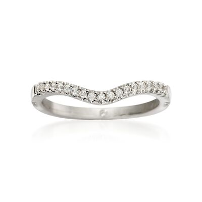 Gabriel Designs .12 ct. t.w. Diamond Wedding Ring in 14kt White Gold