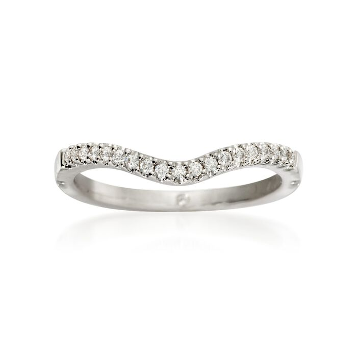 Gabriel Designs .12 ct. t.w. Diamond Wedding Ring in 14kt White Gold