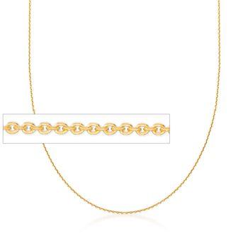 Italian 1mm 18kt Gold Over Sterling Adjustable Slider Cable Chain Necklace, , default