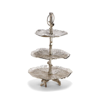 Water Lily Three-Tiered Leaf Stand, , default