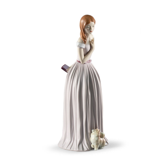 Lladro Porcelain Figurine: I'Ll Walk You to the Party