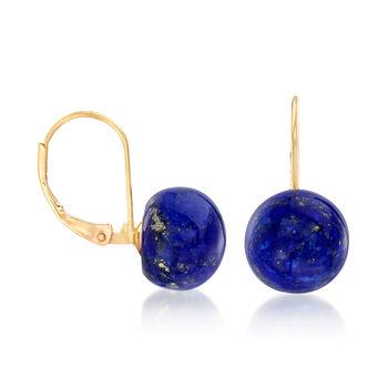 Lapis Earrings in 14kt Yellow Gold