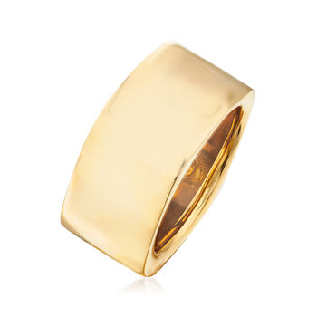 Italian 14kt Yellow Gold Square-Shaped Ring. Size 5