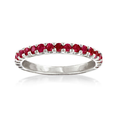 .70 ct. t.w. Ruby Ring in Sterling Silver, , default