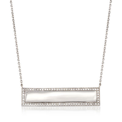 .66 ct. t.w. Diamond Bar Necklace in 14kt White Gold, , default