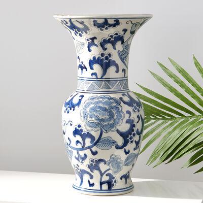 Blue and White Porcelain Phoenix Vase , , default
