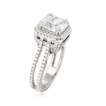 4.70 ct. t.w. CZ Ring in Sterling Silver, , default