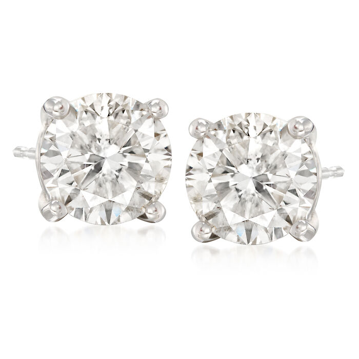 5.00 ct. t.w. CZ Stud Earrings in 14kt White Gold, , default