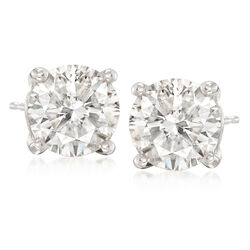 7.00 ct. t.w. CZ Stud Earrings in 14kt White Gold, , default