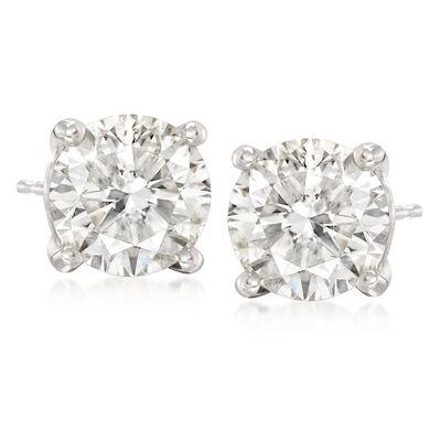 7.00 ct. t.w. CZ Stud Earrings in 14kt White Gold, , default