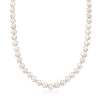 """Mikimoto 7-7.5mm 'A' Akoya Pearl Necklace With 18kt White Gold. 40"""", , default"""