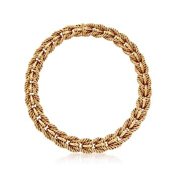 """C. 1990 Vintage Tiffany Jewelry 18kt Yellow Gold Link Necklace. 17"""", , default"""